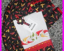 Kit de cozinha 3 pe�as: Pimentas
