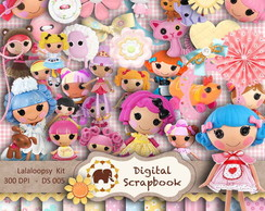 Kit Scrapbook Digital - Lalaloopsy