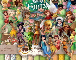 Kit Scrapbook Digital - FADAS DISNEY