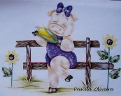 Pano de prato Porquinha 6