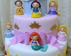 Bolo cenogr�fico Princesas meninas