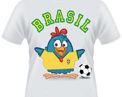 Camiseta Galinha Pintadinha Brasil