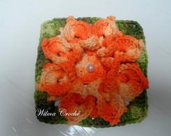 Flor de Croch� para aplica��o Barbante