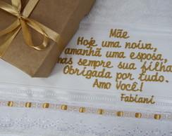 Lembran�a Toalha Pais Dos Noivos c/ emb.