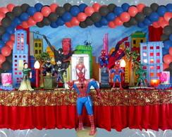 Mesa tem�tica homem aranha