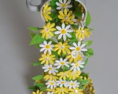 X�cara Decorada Com Flores