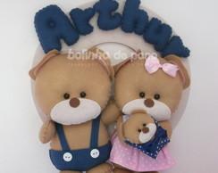 Enfeite Maternidade Fam�lia De Ursos 3