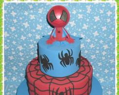 Bolo falso Homem aranha