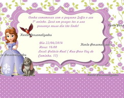 Convite personalizado Sofia