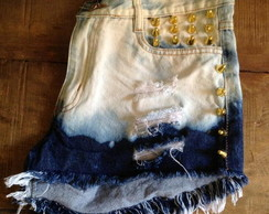 Shorts jeans dip dye, ombre,spike