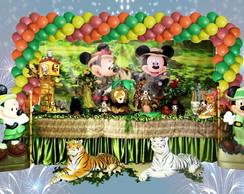 Decora��o infantil Mickey e Minei Safari