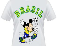 Camiseta Mickey Mouse Brasil