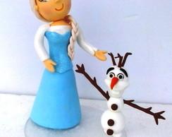 Topo de bolo Frozen
