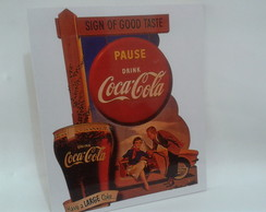 Placa Vintage Decorativa Coca Cola