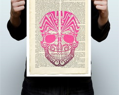 Cartaz Skull Pink - Art Book