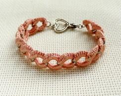 Bracelete Croch� Ros�