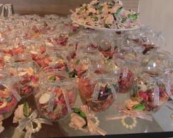 kit velas flutuantes & porta-guardanapos