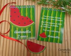 Bloquinho Convite festa melancia