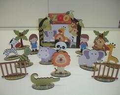 Brinquedo Caixa Zool�gico / Safari MDF