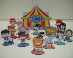 Brinquedo Caixa Divertida Circo MDF