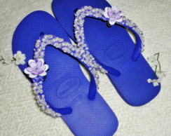 Havaianas Top roxa customizada