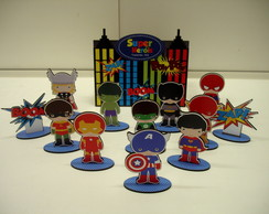 Brinquedo Caixa - Super Herois em MDF