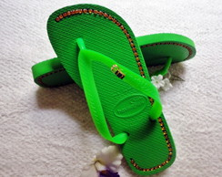 Havaiana Top green customizada