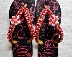 Havaianas Top floral customizada