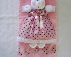 Toalha higienica boneca de pano ursinho
