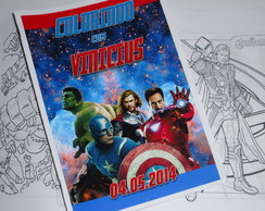 Kit de Colorir 15x21 Os Vingadores