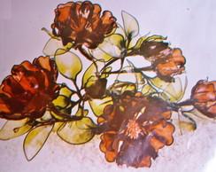 Flores em acr�lico