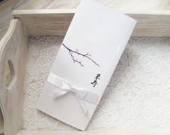 Convite Flor de cerejeira Sakura
