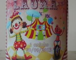 R�tulo Adesivo para lata de Leite Circo