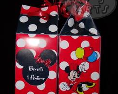 Caixa De Leite Minnie Vermelha