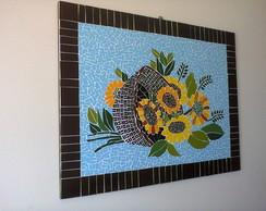 Quadro em mosaico - Girassol