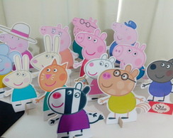 Display de Mesa MDF Peppa Pig e fam�lia