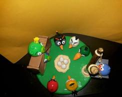 Topo de bolo do angry birds