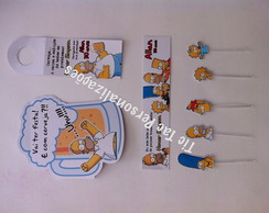 kit festa - adulto b�sico - simpsons