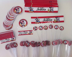 kit festa - r�tulos - b�sico - minnie