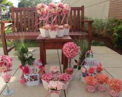 Kit festa jardim encantado rosa e pink I