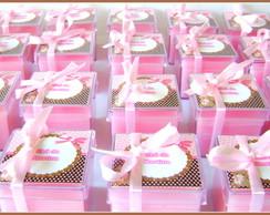 Ch� de Fraldas rosa & marrom