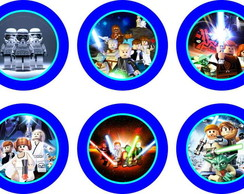Star Wars Lego 25 Toppers Adesivo