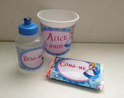 Kit Pipoca Alice com squeeze