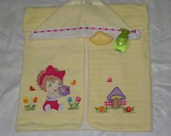 toalha de capuz menina do dado