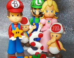 Topo Personalizado Mario Bros e turminha