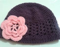 Touca em croch� Flor