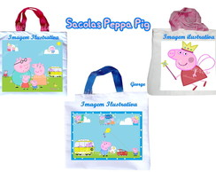 Sacola Peppa Pig al�a m�o color