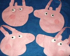 Sacola Peppa Pig kit com 20 pe�as
