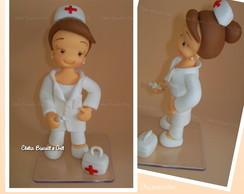 enfermeira em biscuit