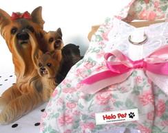 Vestido Floral com la�o rosa